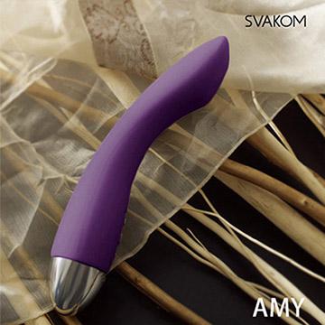 美國SVAKOM Amy 埃米 智能模式優雅6段變頻防水G點按摩棒 紫羅蘭