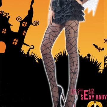 *流行E線*女巫網狀褲襪 透膚黑色嗆辣絲襪【B174】