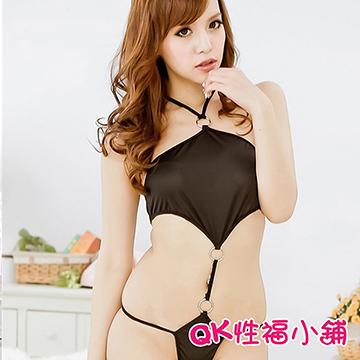 【QK性福小鋪】情趣內衣裹胸連體式性感誘惑套裝 遊戲制服角色扮演鋼管舞娘(QK074)