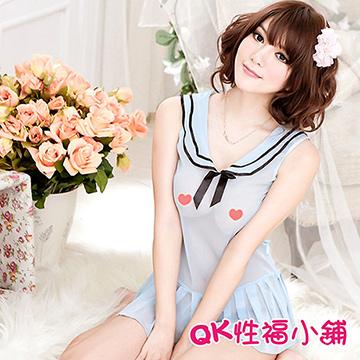 【QK性福小鋪】清純學生服可愛學生裝 情趣套裝 角色扮演服 遊戲制服 情趣制服(QK110)