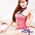 【Alice】性感透視古典旗袍制服誘惑成人情趣內衣套裝女束胸式睡衣短裙(AK009)