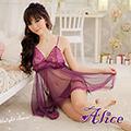 【Alice日本情趣】極度誘惑性感sm情趣內衣騷紫蘿蘭蕾絲睡衣女僕女傭制服公主式套裝(AK055)