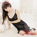 【Aurora 歐若拉】新款女士冰絲睡裙性感睡裙絲綢睡衣家居服春夏薄款(AK278)