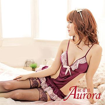 【Aurora 歐若拉】薄款性感誘人鏤空蕾絲塑身衣連體衣 背心式美背深V情趣誘惑內衣(AK291)
