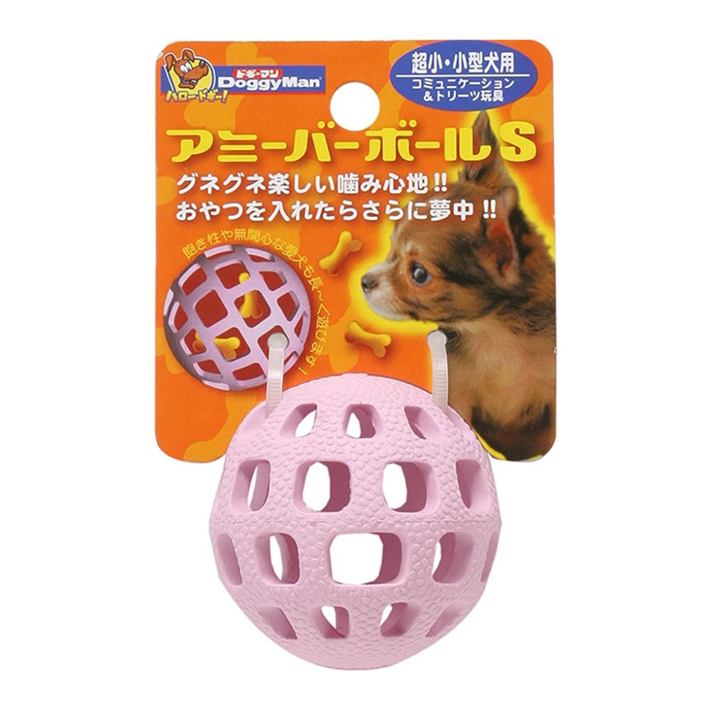 Doggyman 犬用網狀球型乳膠玩具-S