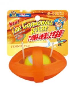 DoggyMan 犬用水晶橡膠網球玩具-橄欖球