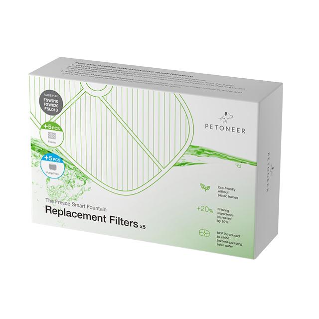 Petoneer 抑菌環保過濾芯片組(5片裝)