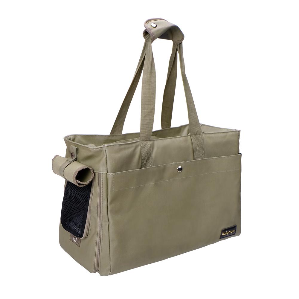 IBIYAYA依比呀呀-FC1428簡約手做寵物帆布包-軍綠