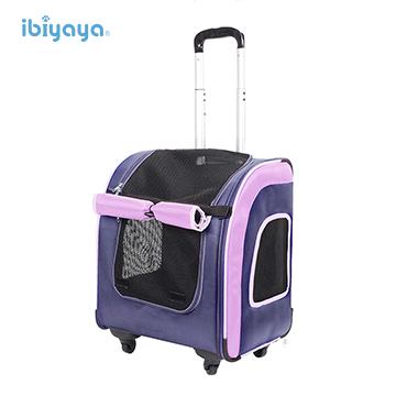 IBIYAYA依比呀呀-FC1705新LISO後背平行寵物拉桿包-藏青藍(寵物拉桿包/拉桿車/後背包)