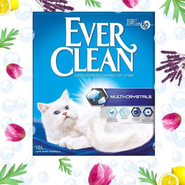 藍鑽歐規【EverClean】水晶結塊貓砂10L