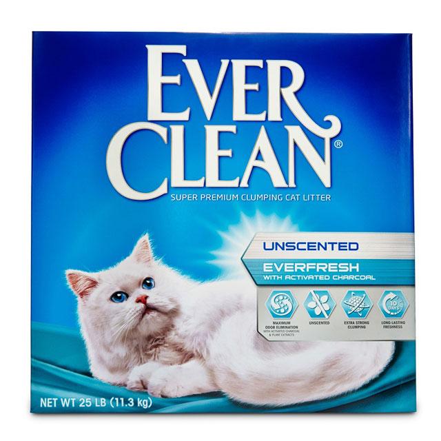藍鑽EverClean雙重活性碳低過敏結塊貓砂(白標)25lb