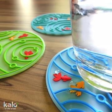 Kalo 卡樂創意 池塘小金魚杯墊 隔熱墊