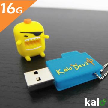 Kalo 卡樂創意 矽膠造型隨身碟 - 小惡魔系列 - 黃芥末海盜(16G)