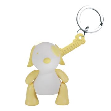【BabyTiger虎兒寶】獨家銷售!魔幻七彩玩伴LED鑰匙圈-電池型小狗Rice
