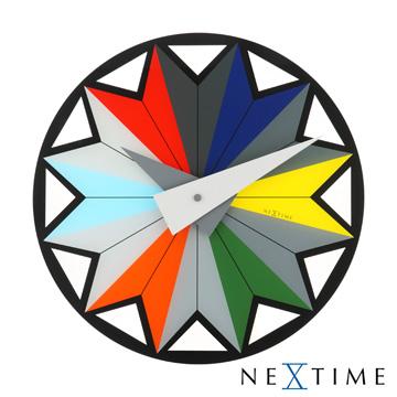 《歐型精品館》NeXtime-三角形色彩時鐘