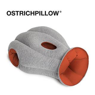 【英國 Ostrich Pillow】旅行 護脖 護頸枕 創意鴕鳥枕 西班牙手工製 正品 (經典款 紅色)
