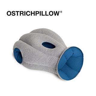 【英國 Ostrich Pillow】旅行 護脖 護頸枕 創意鴕鳥枕 西班牙手工製 正品 (經典款 藍色)