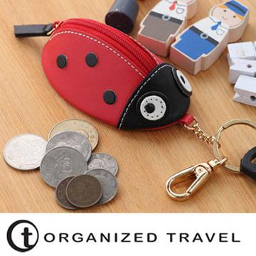 【OT 旅遊配件】零錢包鑰匙圈(瓢蟲)