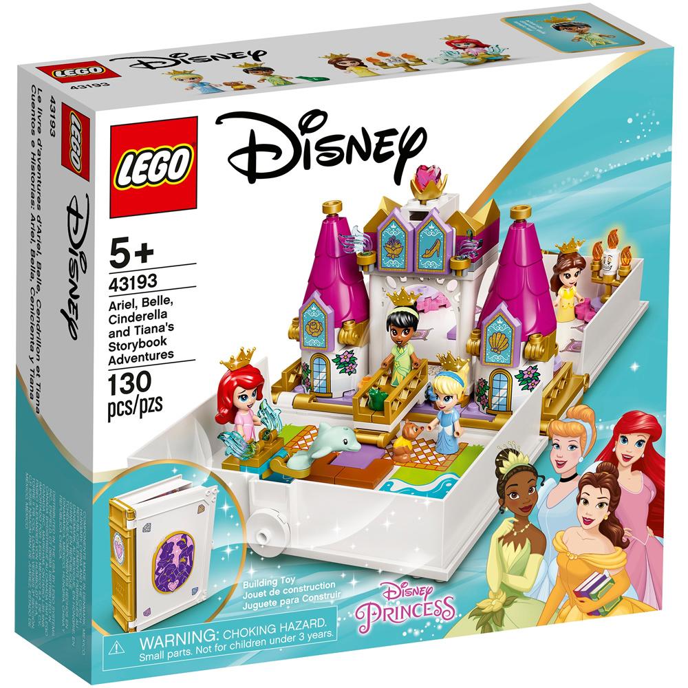 樂高積木 LEGO《 LT43193 》202108 迪士尼公主系列 - 愛麗兒,貝兒,仙杜瑞拉,蒂安娜口袋故事書
