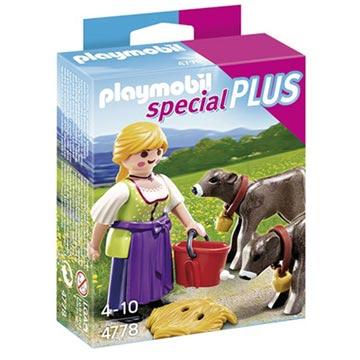playmobil - 鄉村女孩與小牛