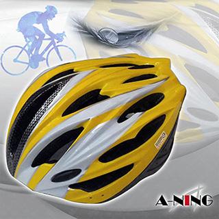 【風動腳踏車帽 黃色】20孔空氣風洞散熱設計│最佳入門款│自行車頭盔│輕量流線款│單車帽│非捷安特