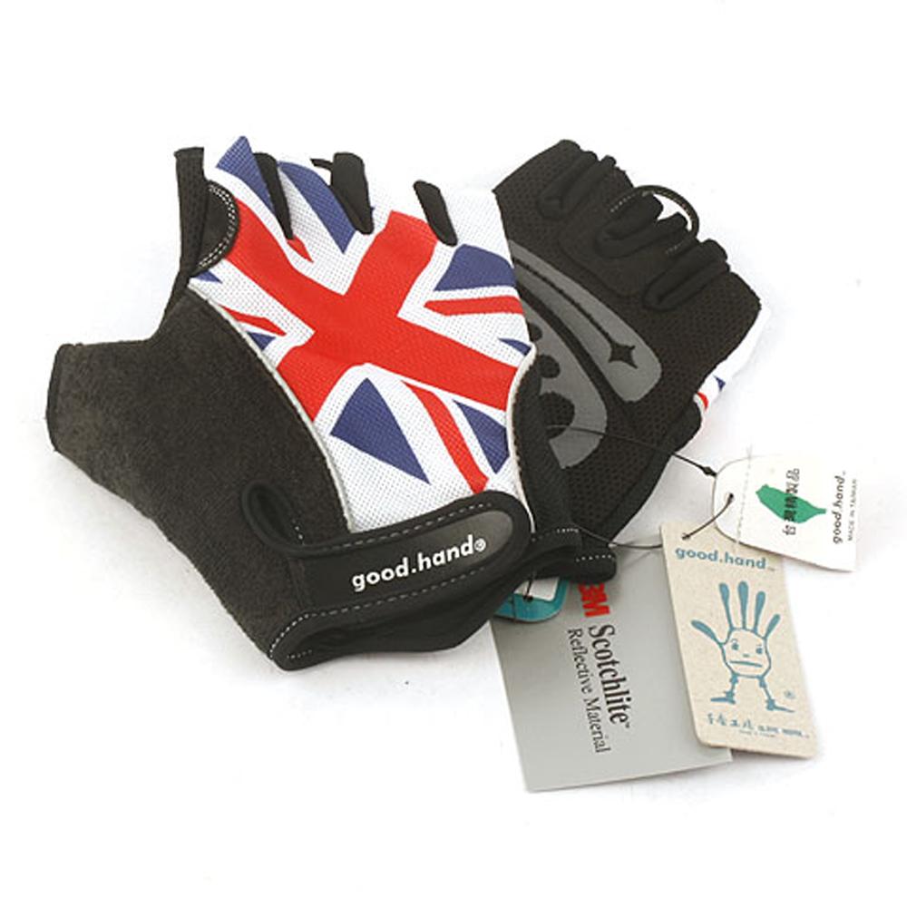 【good.hand】單車專用手套,環保無害材質,英國國旗樣式