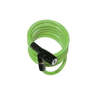 KIDS 彈簧式鑰匙纜線鎖-Green