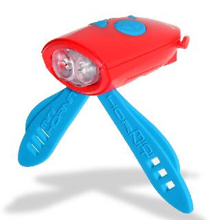 英國 【Mini Hornit  】兒童腳踏車專用喇叭燈 - 紅藍色
