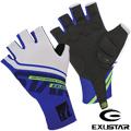 EXUSTAR 自行車半指手套(藍) - L