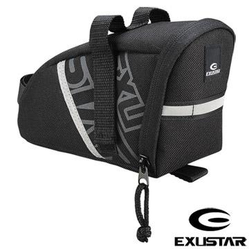 EXUSTAR 自行車坐墊袋(黑灰)