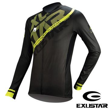EXUSTAR 自行車長袖車衣(黑綠) XL