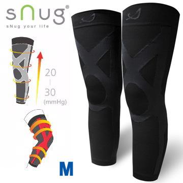SNUG運動壓縮全腿套-1雙(M號)(百搭黑)