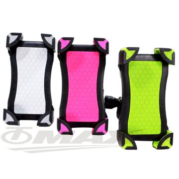 omax矽膠防滑鷹爪自行車手機架-1入(粉紅色)