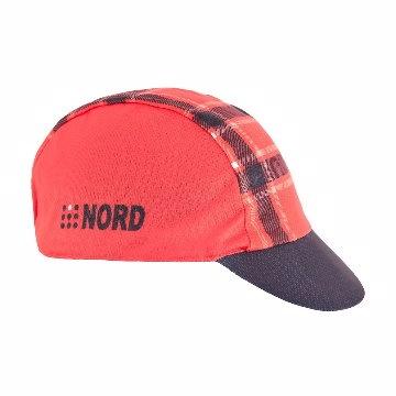 【NORD】加拿大品牌 NORD 公路車專用小帽-千島格紋(紅)