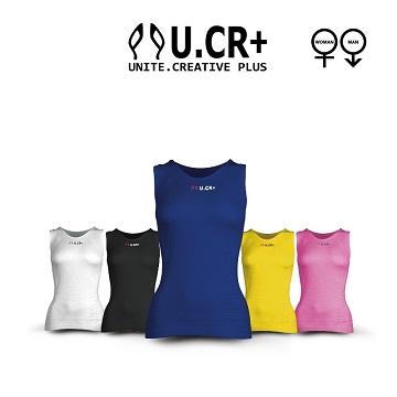 U.CR+ ST1機能性超輕量無縫內衣ST1 五色系列(海軍藍)─背心款(ST1 Compression Vest)
