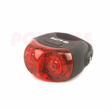 Q-LITE 自行車貓頭鷹眼睛造型後燈(QL-281R)USB充電式,黑色