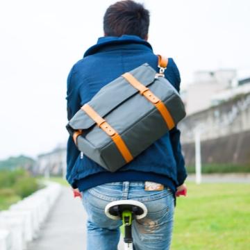 Walco City Chic Messenger Shoulder Laptop Tablet Stylish Cyclist Bike Bag Grey