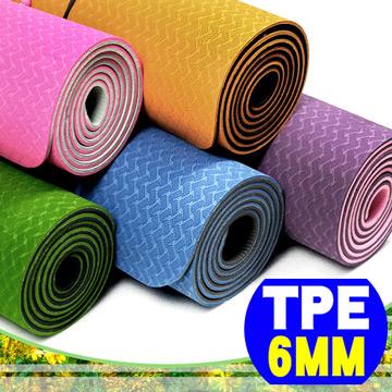 原價$990↘限時搶購 【SAN SPORTS】環保TPE雙色瑜珈墊(加長版)(6mm)