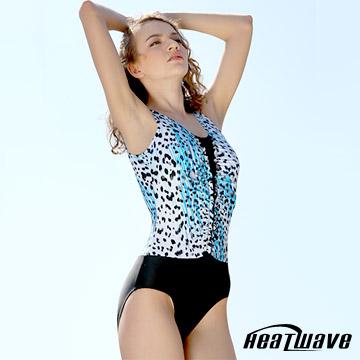 Heatwave 熱浪 泳豹藍天 萊克三角連身泳衣