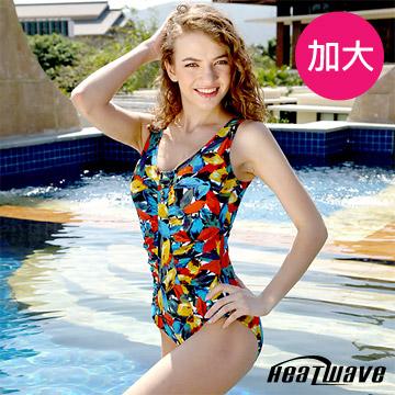 Heatwave 熱浪  星光豐彩 萊克三角連身泳衣(加大)