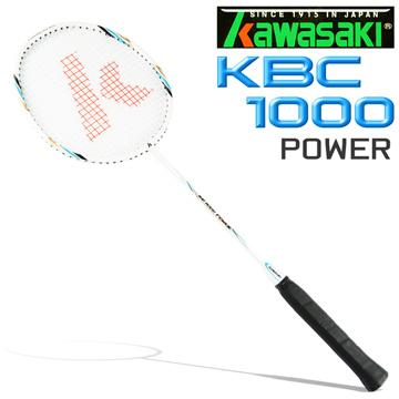 Kawasaki KBC1000 碳纖維超輕羽球拍(藍/白)