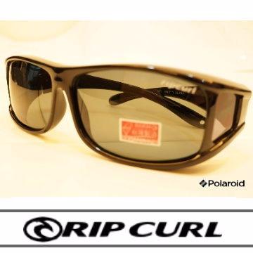 [Rip Curl]抗藍光抗UV保麗萊偏光直戴式包鏡UF9411黑/騎車.近視.戶外族專用