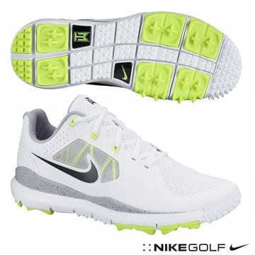 NIKE Tw14 mesh (w) 老虎伍茲系列高爾夫球鞋-白
