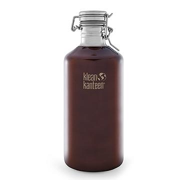 美國Klean Kanteen快扣不鏽鋼瓶1900ml-深琥珀