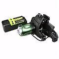 KINYO美國CREE800流明T6鋁合金LED頭燈送充電器電池(LED-618)