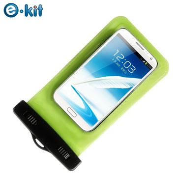 逸奇 e-Kit  手機專用防水袋10米保護套  SJ-P068綠色 (附魔鬼氈臂帶)