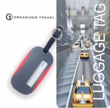 【OT 旅遊配件】城市系列 行李箱吊牌 -  紅灰色