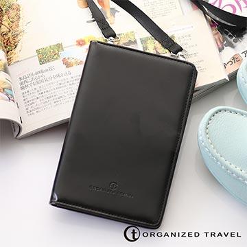 Organized Travel - 輕巧型肩背式護照包-時尚黑