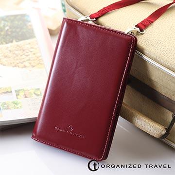 Organized Travel - 輕巧型肩背式護照包-名媛紅
