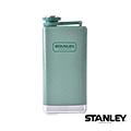 【美國Stanley】不鏽鋼保溫瓶/SS Flask 經典酒壺 0.24L -錘紋綠